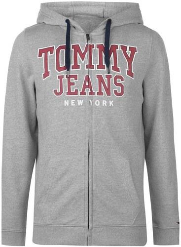 Pánská mikina Tommy Hilfiger Jeans Ess Šedá - Glami.sk 98e08946449