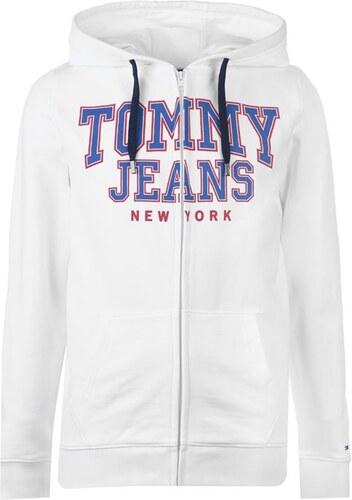 Pánská mikina Tommy Hilfiger Jeans Ess Bílá - Glami.sk bdbc8e1b510