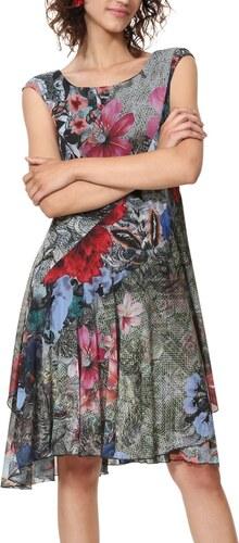 Desigual farebné šaty Vest Karuka - Glami.sk ce50d59ffee