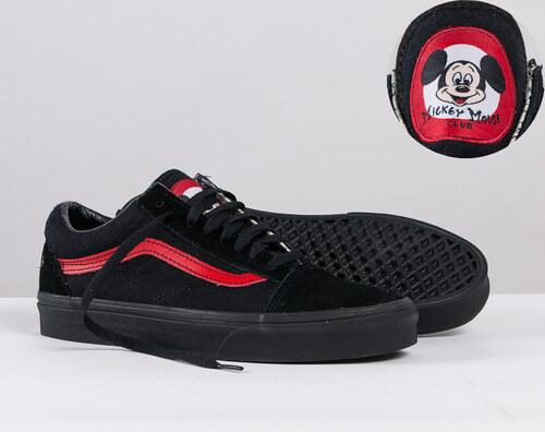 f2c72df06af Boty VANS (DISNEY) Mickey Mouse Club Black Red - Glami.cz