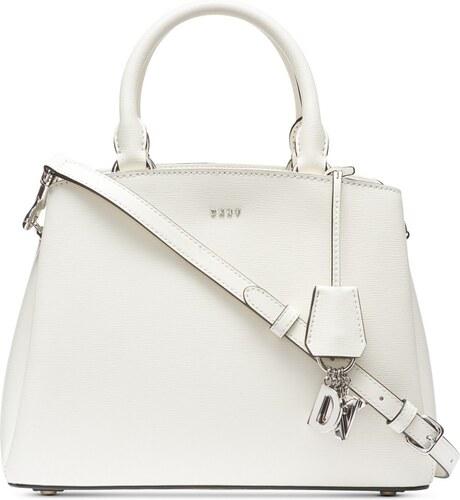 1fe6768d7f DKNY Donna Karan DKNY Paige satchel kožená kabelka medium white silver