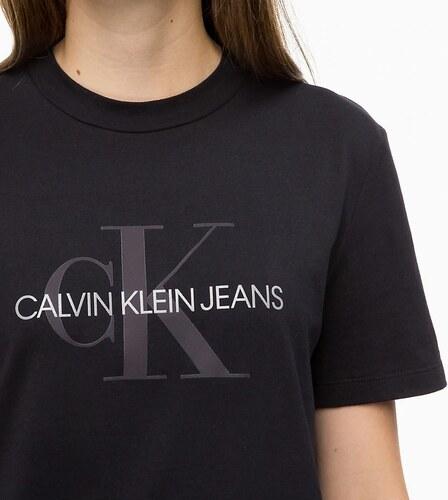 9d6334257 Dámské tričko CALVIN KLEIN JEANS Relaxed Logo T-shirt černé - Glami.cz