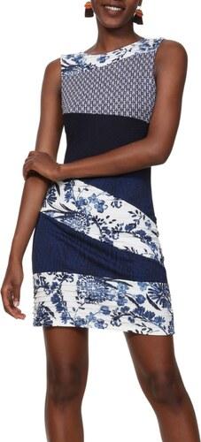07fb3ec734c Desigual modro-bílé šaty Vest Olivia - XS - Glami.cz