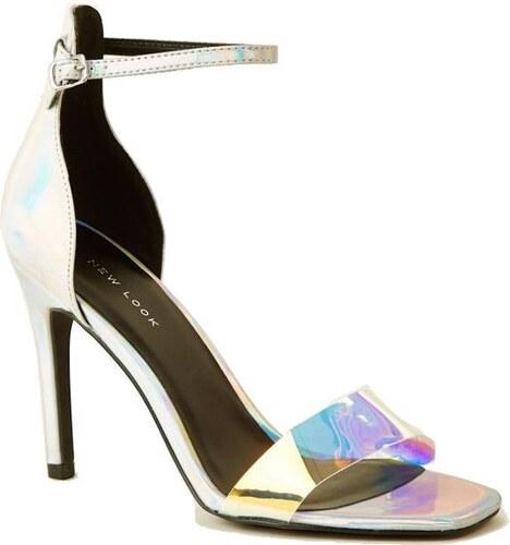 2f6d87007eff NEW LOOK Holografické Stiletto sandálky - Glami.sk
