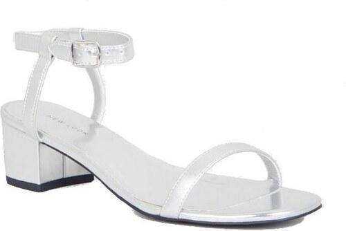 NEW LOOK Metalické sandále na nižšom podpätku - Glami.sk a2bde5c8bc8