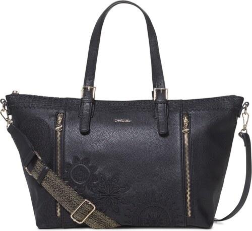 Desigual černá kabelka Bols Dark Amber Verona - Glami.cz 21184b6d22f