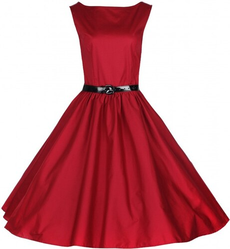 AUDREY rudé šaty inspirované padesátými léty - Retro šaty.cz - Glami.cz 3fa6ee1f8f