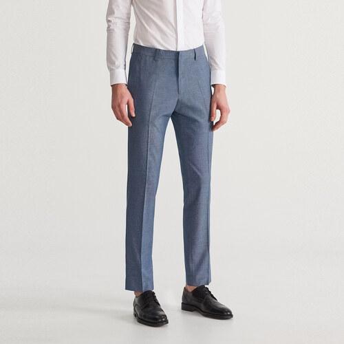 ee0baf90b3 Reserved - Oblekové nohavice slim fit - Modrá - Glami.sk