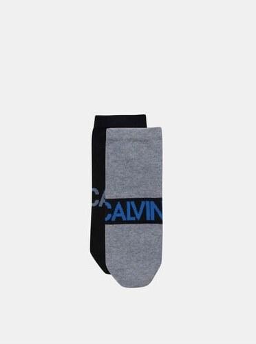 cab3e59b1b Calvin Klein Jeans sada dvou párů pánských nízkých ponožek v šedé a černé  barvě 43-
