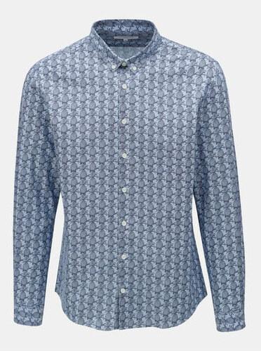 Lindbergh světle modrá vzorovaná slim fit košile s dlouhým rukávem M ... 3811f7aa46