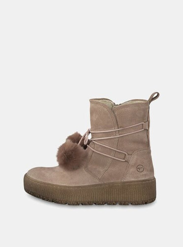 0c830d5f94 Tamaris béžové semišové kotníkové zimní boty na platformě 41 - Glami.cz