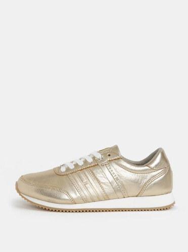 Tommy Hilfiger dámské kožené tenisky ve zlaté barvě 36 - Glami.cz 805670579af