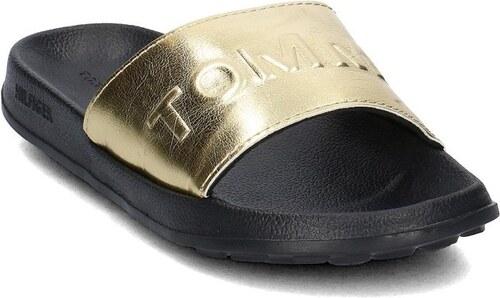 Tommy Hilfiger dámské zlaté pantofle - Glami.sk 225717dc8e