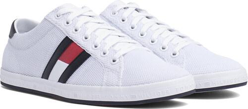 304c476424 -5% Tommy Hilfiger biele pánske tenisky Essential Flag Detail Sneaker White