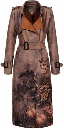 ELEGANCE Dámsky dlhý kabát SPRING TWO XL - Glami.sk 44e7f5e742e