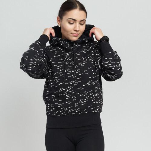 6cd06c9c2 Nike W NSW Hoodie AOP Swoosh čierna / biela - Glami.sk