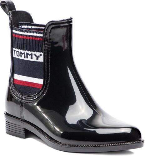 Gumáky TOMMY HILFIGER - Tommy Elastic Rain Boot FW0FW03836 Black 990 ... 1279c5ee8ca