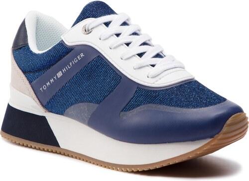 6e47482474 Sportcipő TOMMY HILFIGER - Glitter City Sneaker FW0FW03772 Tommy Navy 406
