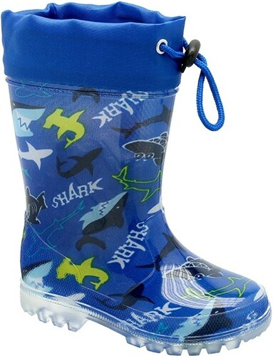 c47a1430301c KTR Chlapčenské čižmy so žralokmi - modré - Glami.sk