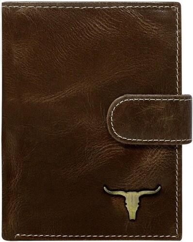 c30b400dcc Buffalo Wild Hnedá pánska kožená peňaženka RFID v krabičke WILD ...