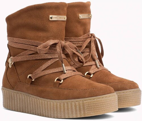 ca69b0d04c Tommy Hilfiger hnedé kožené topánky Cozy Warmlined Suede - Glami.sk