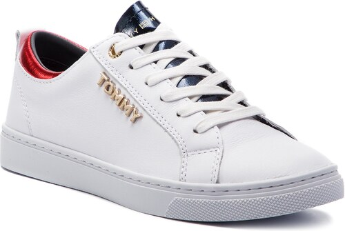 c6b79d994ca33 Sneakersy TOMMY HILFIGER - City Sneaker FW0FW03776 White 100 - Glami.sk
