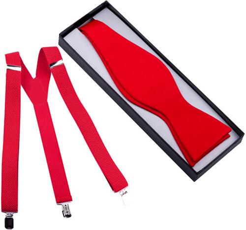 04303cacd0d9 Set traky a motýlik viazací červený Assante 520 - Glami.sk