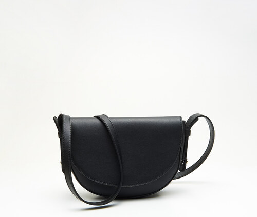 3721df9547 Cropp - Kabelka v štýle saddle bag - Čierna - Glami.sk