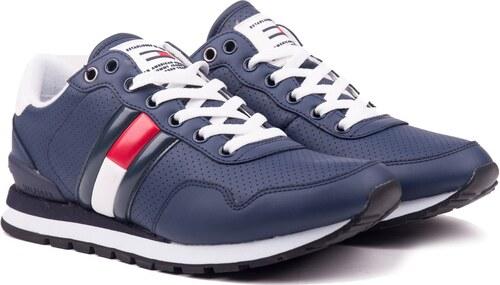 ce9937284d ... Tommy Hilfiger kék férfi bôr tornacipő Lifestyle Tommy Jeans Sneaker Ink