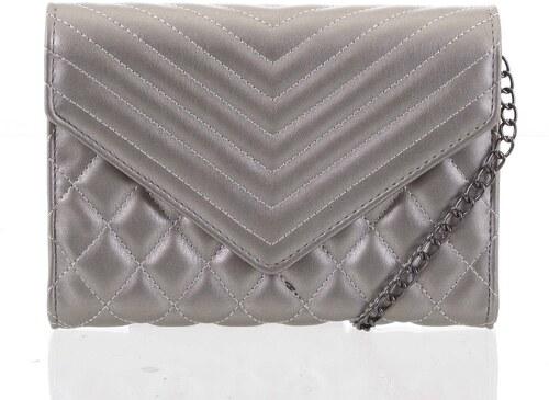 bbe972280 Originálna dámska prešívaná strieborná listová kabelka - Delami Agnella  strieborná