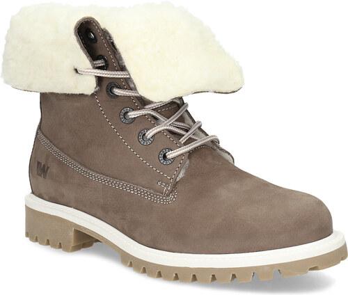 b00fe23d4e46e Weinbrenner Hnedá dámska kožená zimná obuv - Glami.sk