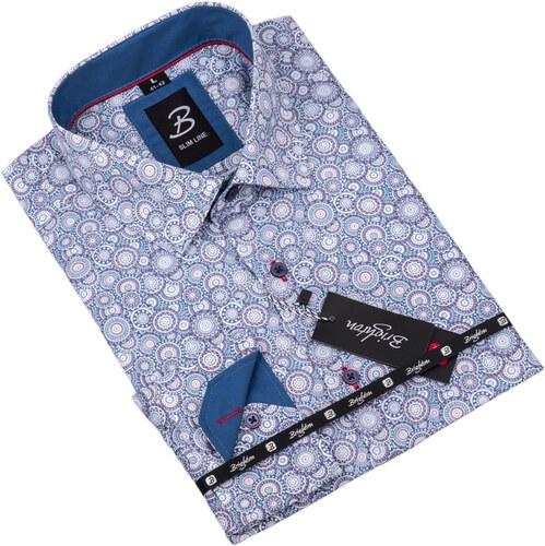 a308a8c14905 Vzorovaná košeľa Brighton bielomodrá 109916 - Glami.sk