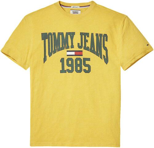 3258bd6ae1 TOMMY HILFIGER pánské tričko žluté - Glami.cz