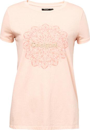 e4cb5ec42c2e Desigual Dámske tričko TS Manchester Rosa Carnal 19SWTK41 3055 ...