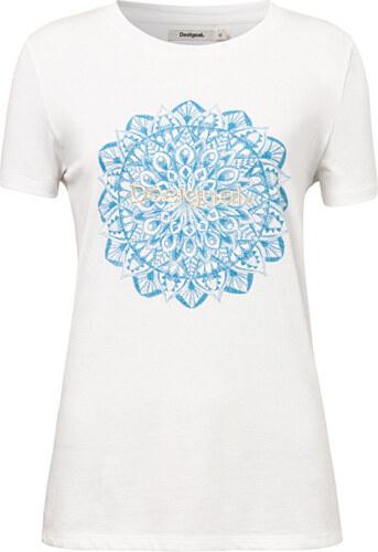 549676d12b3e Desigual Dámske tričko TS Manchester Blanco 19SWTK41 1000 - Glami.sk