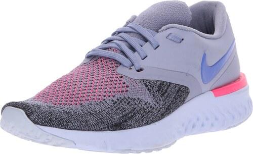 d583442bb47f NIKE Běžecká obuv   Odyssey React Flyknit 2  šedá   růžová   černá ...