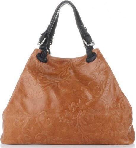 d583f405e8 Univerzální kožená italská kabelka Genuine Leather Zrzavá - Glami.cz
