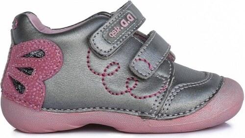 D.D.STEP kožená detská obuv 015-167A grey - Glami.sk bc963c759c5
