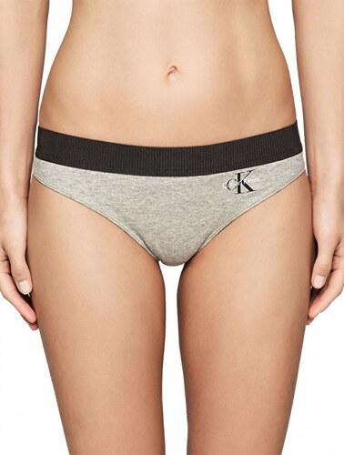 75d72a5d14 Calvin Klein Dámske športové nohavičky Thong QF1644E-IL7 Grey - Glami.sk
