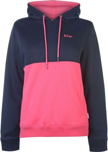 mikina Lee Cooper Cut and Sew OTH Hoodie dámská Navy Pink - Glami.sk 4275c4fb3ac