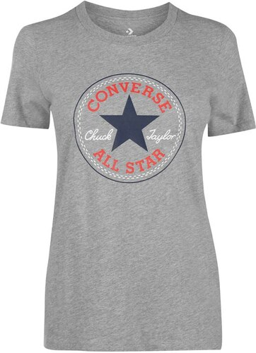 c46740cf1a68 Dámské triko Converse Chuck Grey Heather - Glami.sk