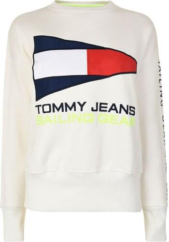 c584018fc7 Dámská mikina Tommy Hilfiger Jeans Sail Bílá - Glami.sk