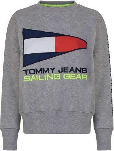 554c9697d2 Dámská mikina Tommy Hilfiger Jeans Sail Šedá - Glami.sk