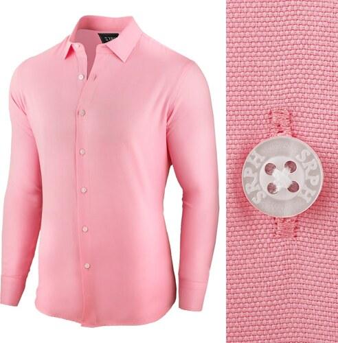046efbf190a2 Seraph Pánska business košeľa ružovej farby - Glami.sk