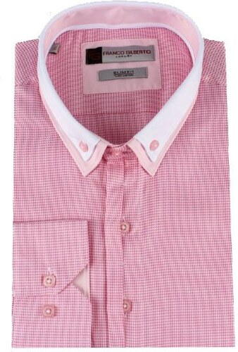 dc7299494e09 MAKROM London Ružová pánska košeľa s dvojitým golierom - Glami.sk