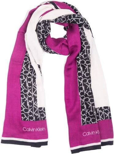Calvin Klein barevný šátek Geo Quilt Scarf - Glami.cz f8668d5d4b