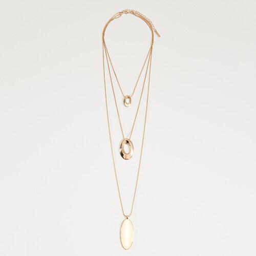 b42d4d547 Mohito - Viacvrstvový náhrdelník s príveskami - Zlatá - Glami.sk