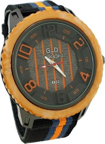 Pánské sportovní hodinky G.D Sport oranžové 074P - Glami.cz 2266d14f8f