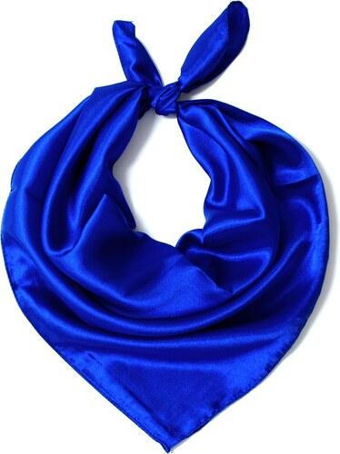 Y-wu Čtvercový šátek na krk modrý 57cm   57cm