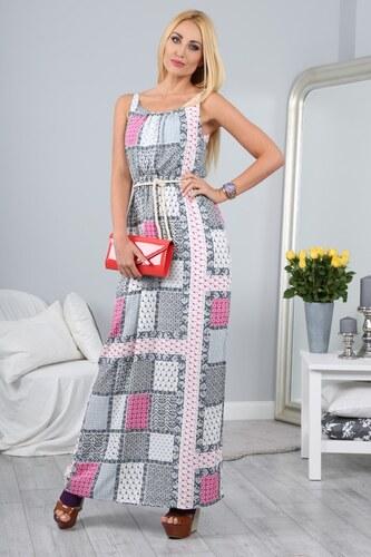 FASARDI Vzorované letné maxi šaty na ramienka  S - Glami.sk e7a7bf03e81
